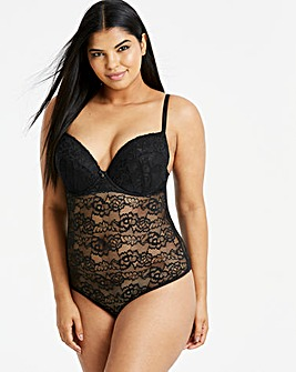 Ann Summers Sexy Lace Black Bodysuit