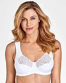 58197bb81ee62 Miss Mary Cotton and Lace Wired Bra