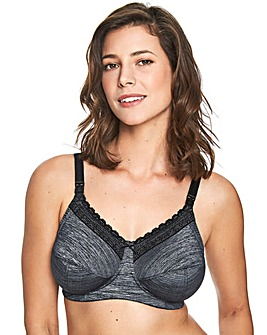 6a4bed93cfa96 Royce Luna Grey Marl Nursing Bra