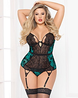 Seven Til Midnight Simply Gorgeous Green Bustier