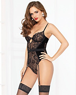 Seven Til Midnight Velvet and Lace Teddy