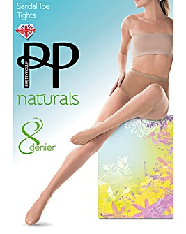 Pretty Polly Naturals Sandal Toe Tight