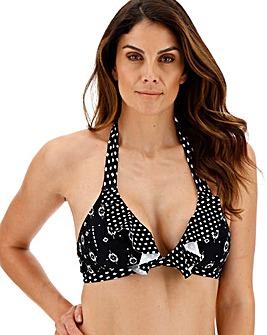 Together Monochrome Mix Halterneck Bikini Top