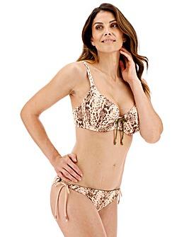 Dorina Curves Mamba Snake/Khaki Padded Wired Bikini Top