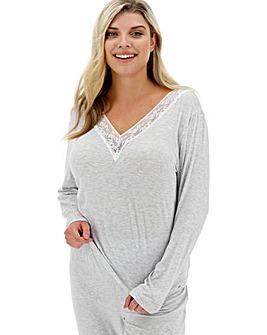 Dorina Curves Heather Long Sleeve Modal Cami Top