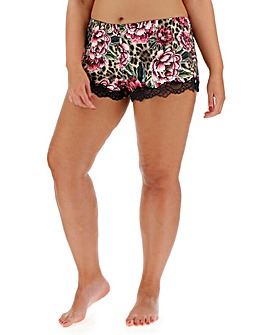 Dorina Curves Dolores Rose Print Shorts
