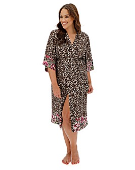 Dorina Curves Dolores Rose Print Robe