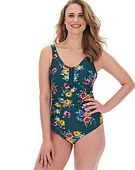 Joe Browns Floral Print Zip Up Swimsuit