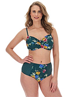 Joe Browns Floral Print Twist Front Bikini Top