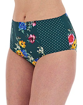 Joe Browns Floral Print High Waisted Bikini Briefs