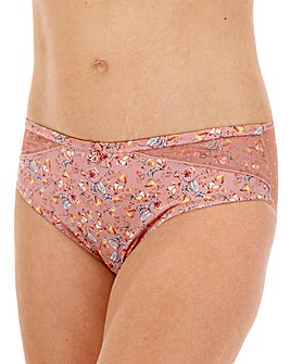 Joe Browns Blush Floral Print & Dotty Mesh Midi Briefs