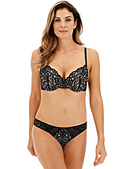 Ann Summers Timeless Affair Padded Plunge Black/Nude Bra