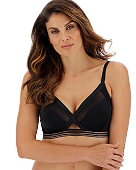 Curvy Kate Unwind Non-Wired Black Bralette