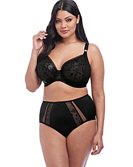 Elomi Roxanne Plunge Wired Black Bra
