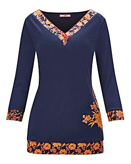 Joe Browns 3/4 Sleeve Pyjama Top