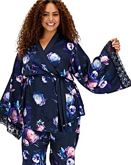 Joe Browns Satin & Lace Kimono Robe