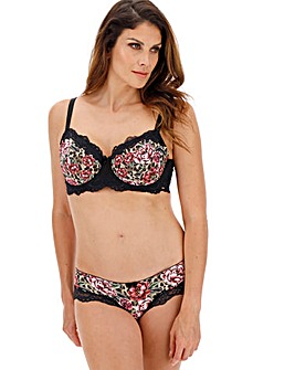 Dorina Curves Dolores Rose Animal Print Balcony Wired Bra