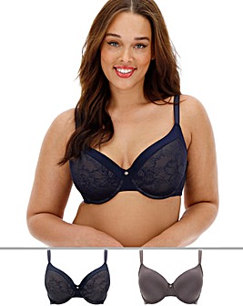 Dorina Curves 2Pack Alissa Blue/Grey Bra