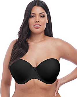 Elomi Smooth Strapless Black Bra