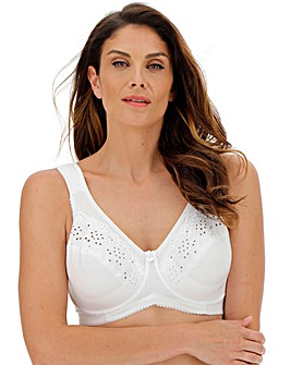 Miss Mary Cotton Delight Wired White Bra
