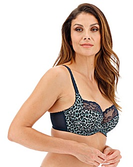 Panache Jasmine Animal Navy Balcony Bra