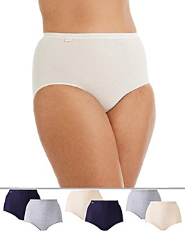 Sloggi 6Pack Maxi Briefs, Peach Combi
