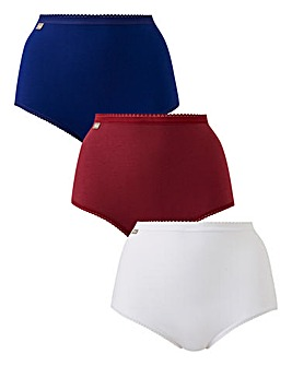 Playtex 3Pack Maxi Briefs, Red/Wht/Blue