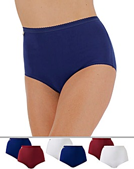 Playtex 6Pack Maxi Briefs, Red/Wht/Blue