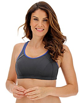 Shock Absorber High Impact Grey/Blue Sports Bra