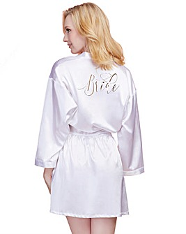 Dreamgirl Bride Satin Charmeuse Robe