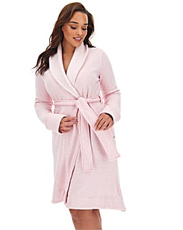 Ugg Duffield Pink Heather Cotton Mix Dressing Gown