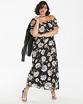 Mesh Bandeau Maxi Dress