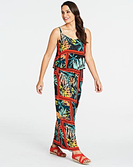 Petite Layered Maxi Dress