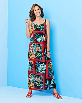 Tropical Layered Maxi Dress