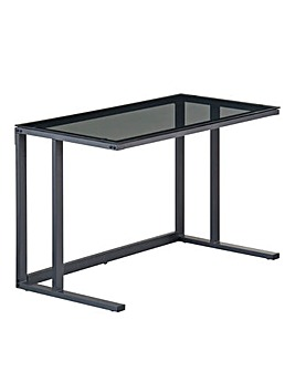Eva Smoked Glass Desk