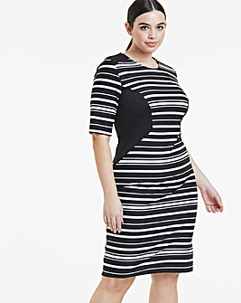 Mono Illusion Ponte Dress