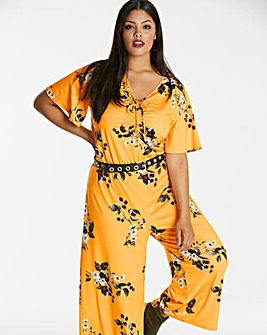 Angel Sleeve Print Jumpsuit