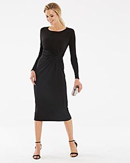 Black Twist Knot Dress