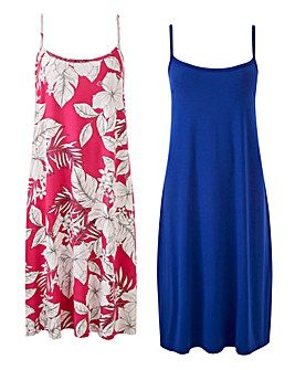 Pink Print Pack of Two Cami Dress