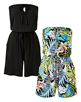 Pack of 2 Tropical Playsuits