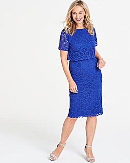 Blue Lace Layered Dress