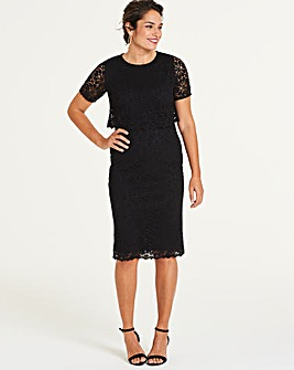 Black Lace Layered Dress