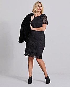 Black Lace Layered Dress