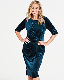 Velvet Twist Knot Dress