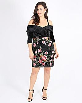 Lovedrobe Sequin Velvet Dress