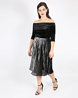 Lovedrobe Velvet Bardot Dress
