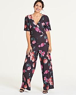 Wide Leg Kimono Jumpsuit