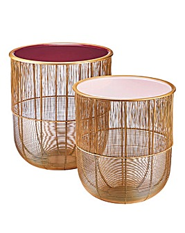 Mirabelle Set of 2 Side Tables
