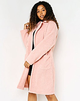 Lasula Pink Teddy Fur Over Coat