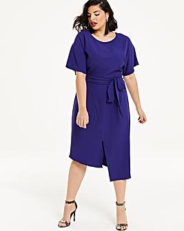 Cobalt Front split Wiggle Dress